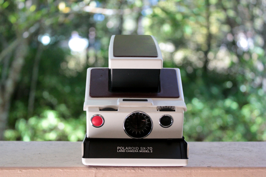 Front view of the Polaroid SX-70