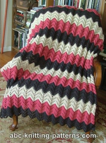 Abc Knitting Patterns Lace Ripple Afghan : Crochet For Free: Lace Ripple Afghan