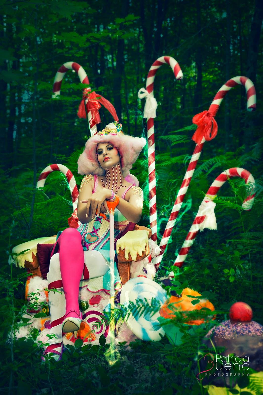Sesión Candy Land basada en Charlie y la Fábrica de chocolate de Tim Burton