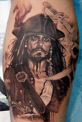 jack pirate tattoo