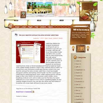 Savour Egyptian Koshari blogger template