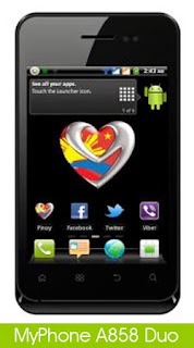 MyPhone A858 Duo, Android Phone