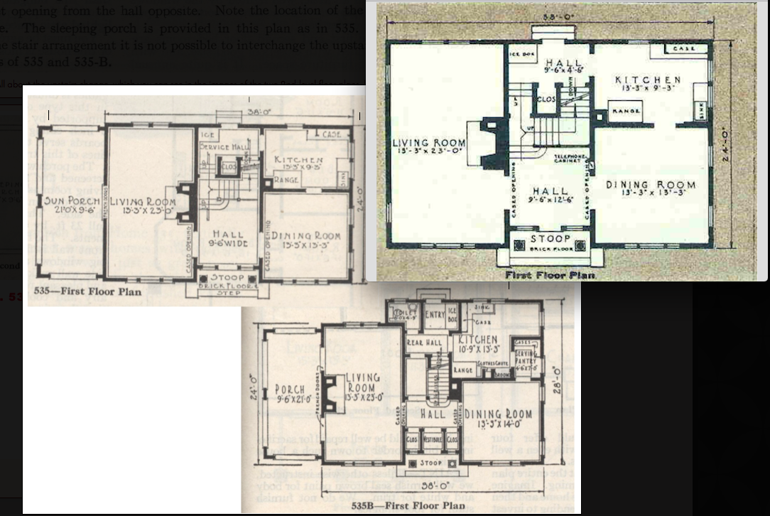 Sears House Seeker  Gordon Van Tine   in Pittsfield  Massachusettsgordon van tine catalog   First floor layouts  Top right  the Glencoe floor plan  You can see that it uses the center hall and stairway layout of
