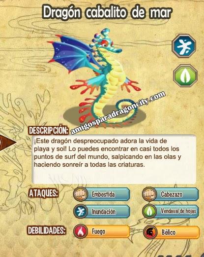 todas las estadisticas del dragon caballito de mar