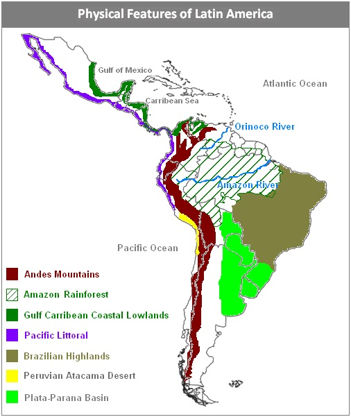 Latin America Natural Resources Map 59