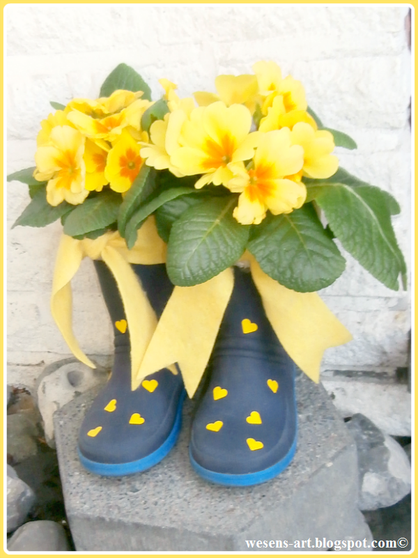 Kids Rubber Boots Flower Pots, shared by Wesens-Art