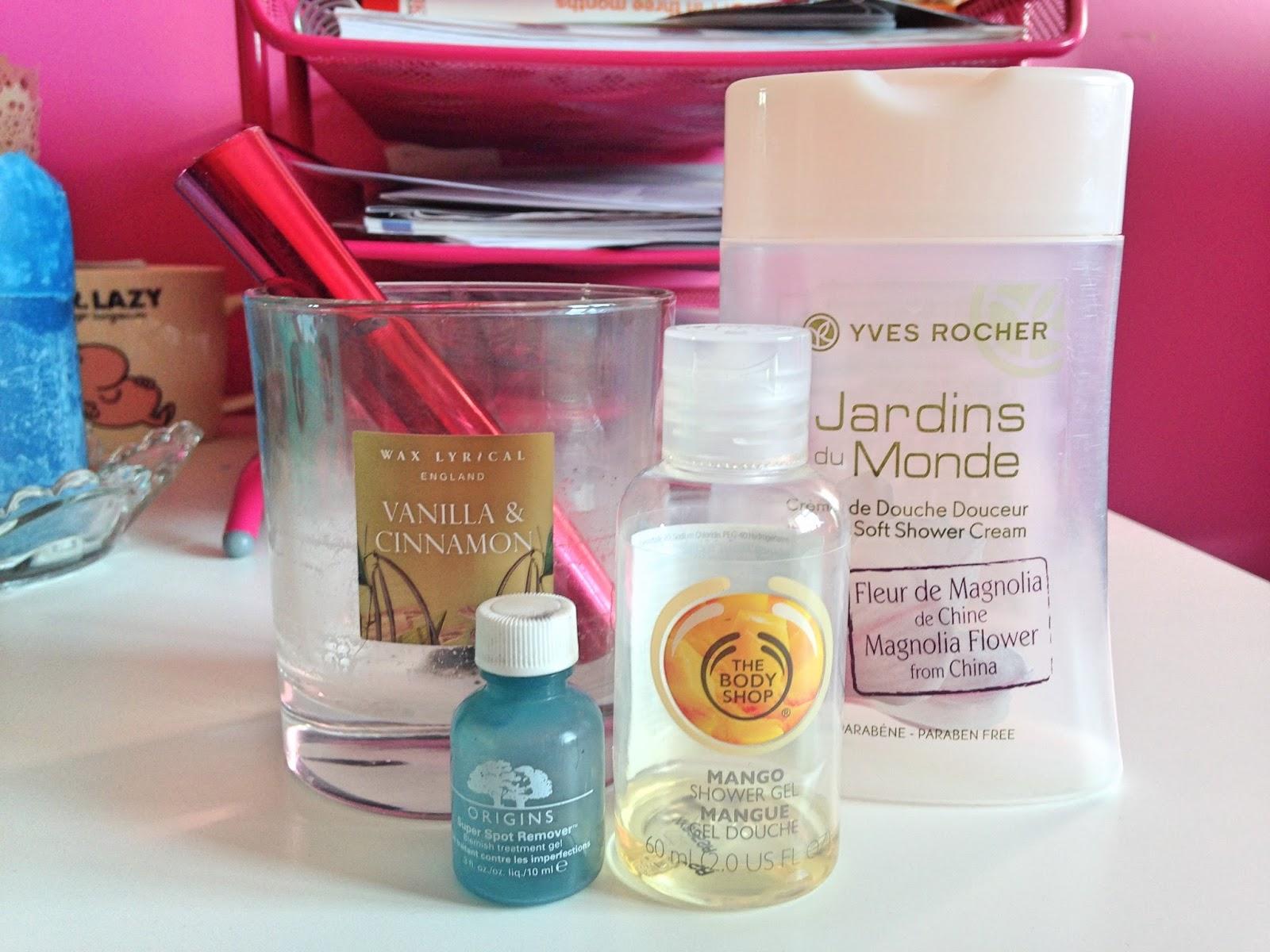 Wax Lyrical No7 Mascara The Body Shop Mango Shower Gel Yves Rocher Jardins de Monde Origins Super Spot Remover