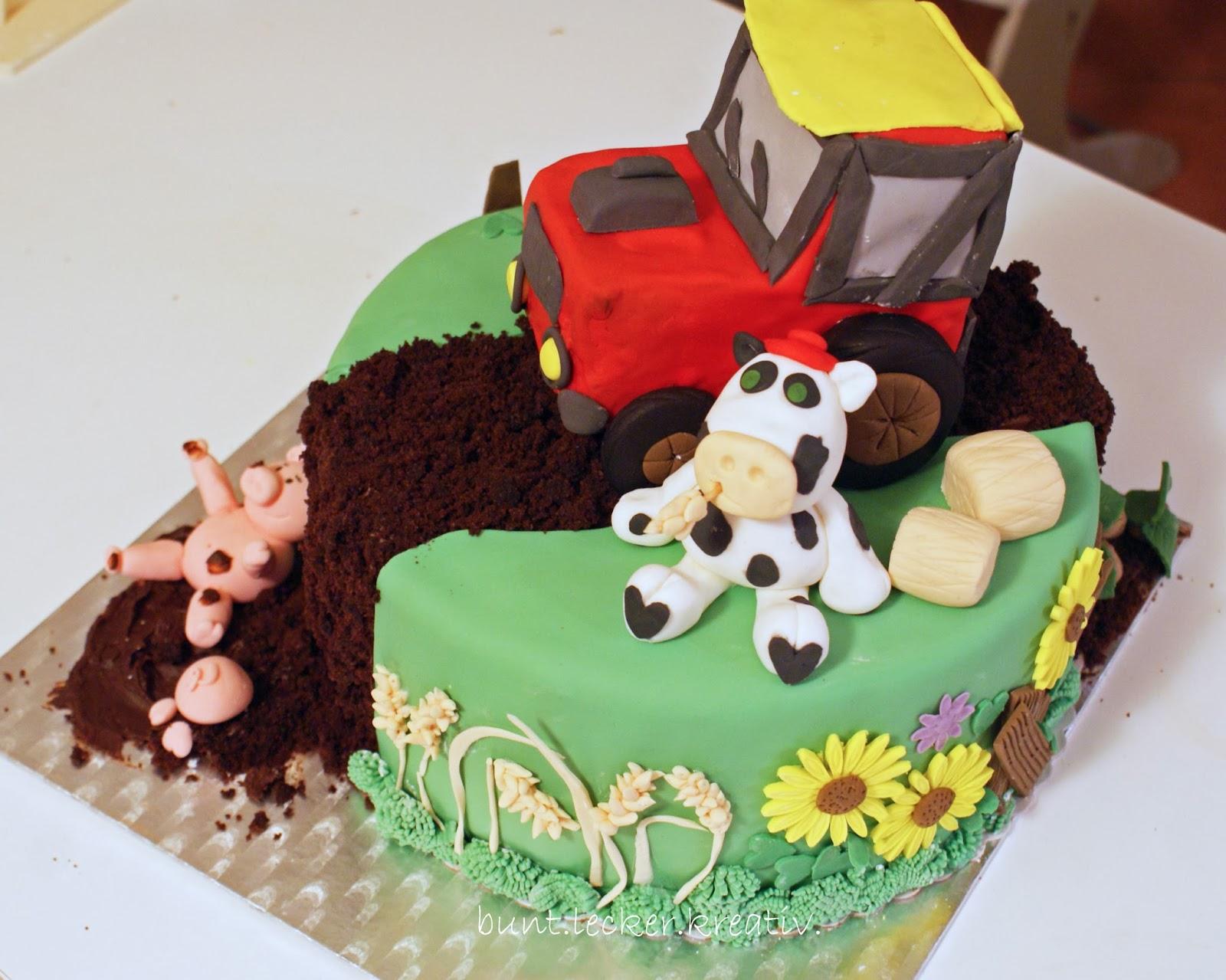 Bauernhof torte for Kindergeburtstag 1 jahr deko