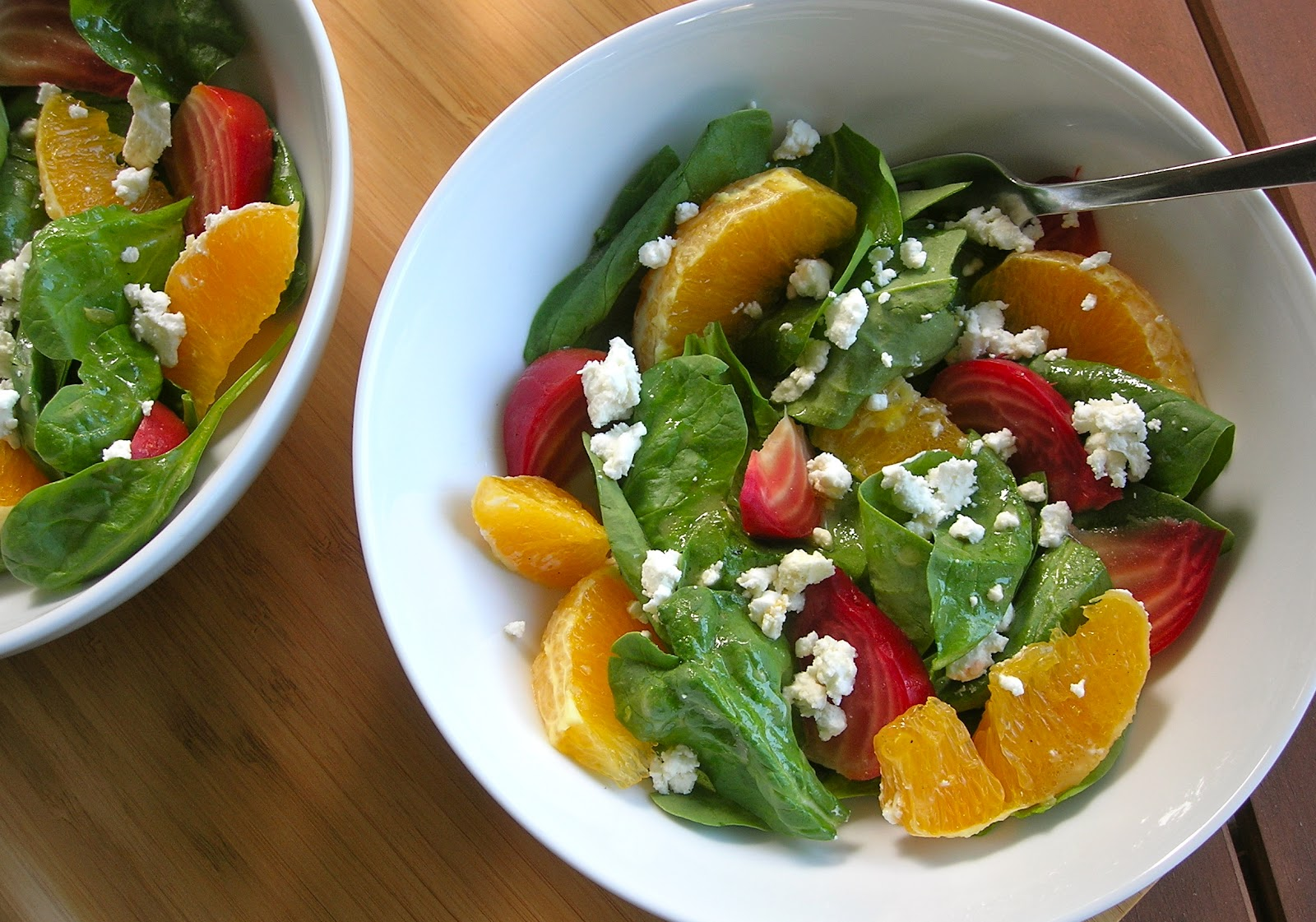 ... Bungalow: Spinach, Orange and Roasted Beet Salad with Goat Cheese