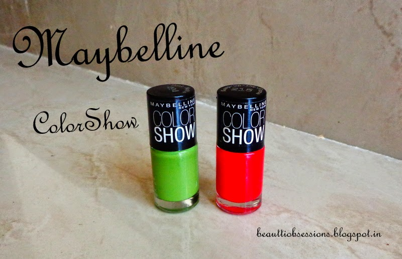 Maybelline ColorShow Nail Paints Review, NOTDs #2 ( Keep-Up-The-Flame & Mint Mojito)