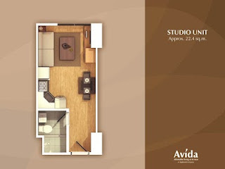 Avida Towers Altura Studio Unit Plan