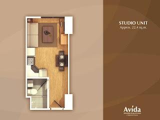Avida Towers Altura Studio Unit Plan