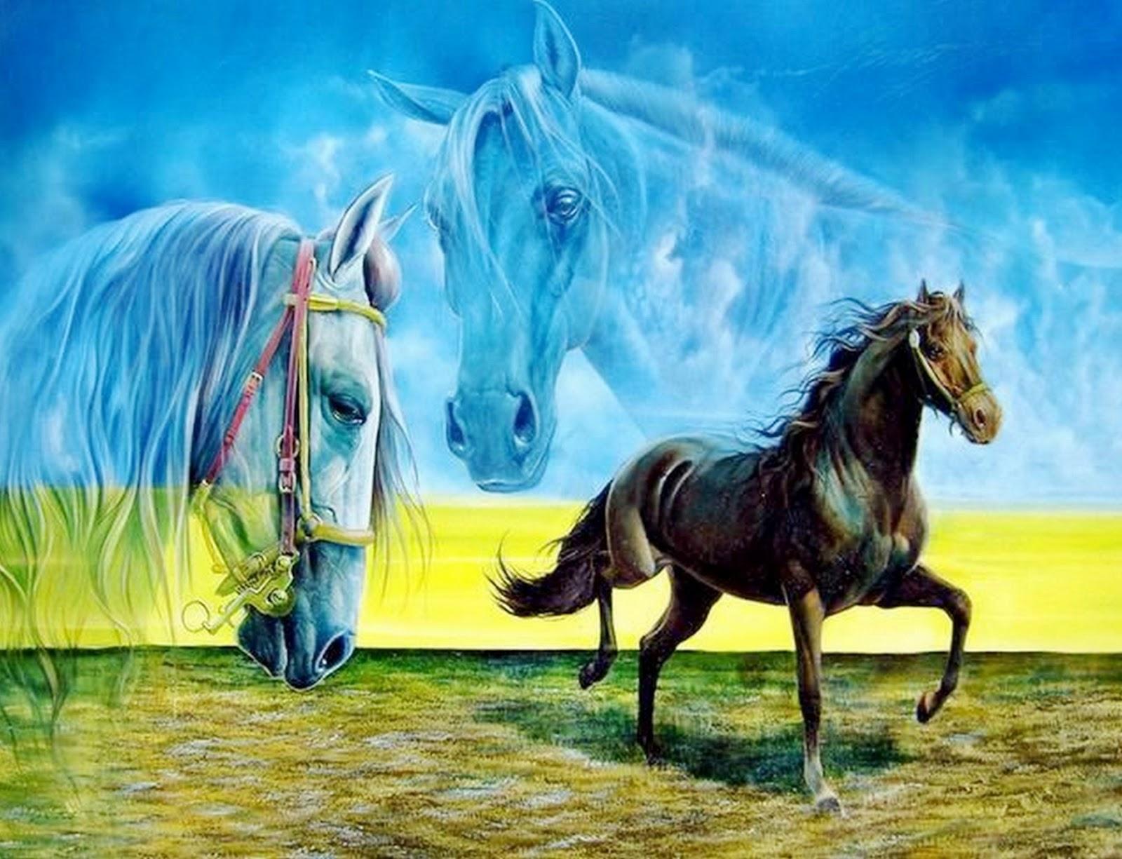 Cuadros modernos pinturas y dibujos cuadros de caballos for Comprar cuadros bonitos