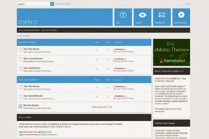 Metro - A Responsive Theme for phpBB3