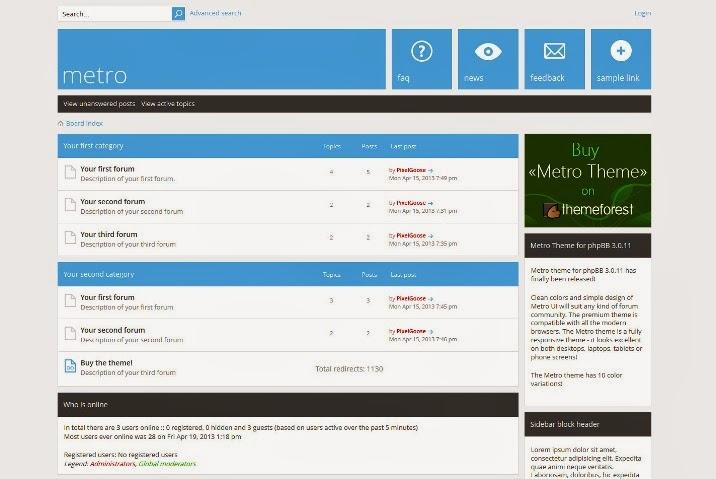 Metro - A Responsive Theme for phpBB3