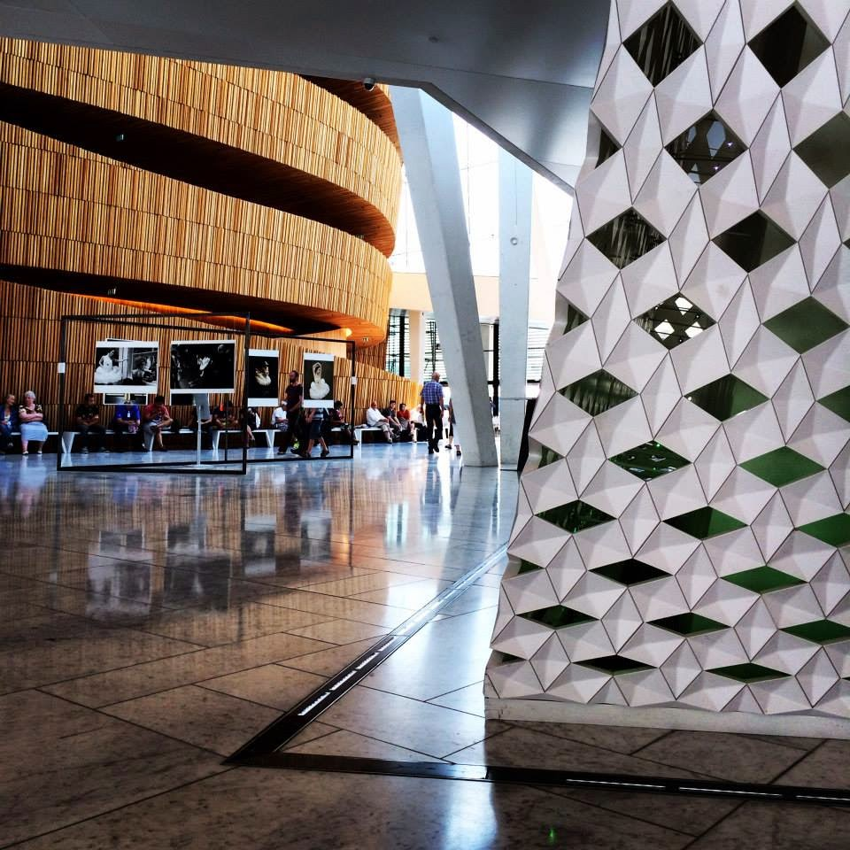 Oslo Opera House Interior design wooden and plastic