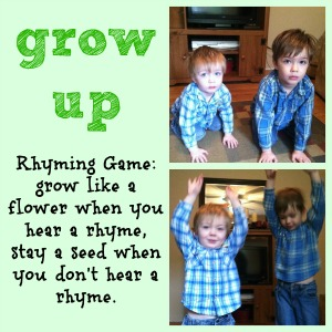 Plant a Kiss, Amy Krouse Rosenthal, printables, word families, rhyming, virtual book club for kids, ready set read