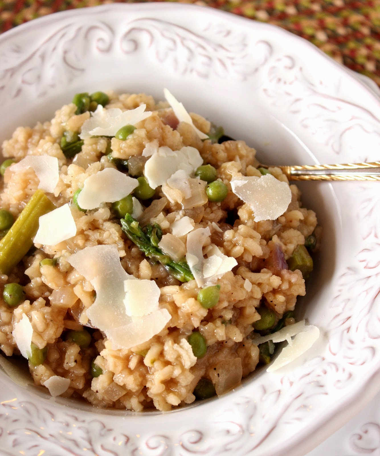 Asparagus and Pea Risotto Recipe via Kudos Kitchen By Renee