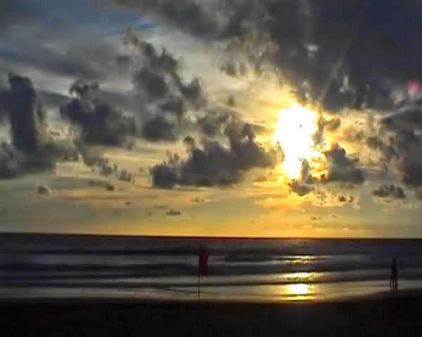 Amazing sunset in Seminyak Beach