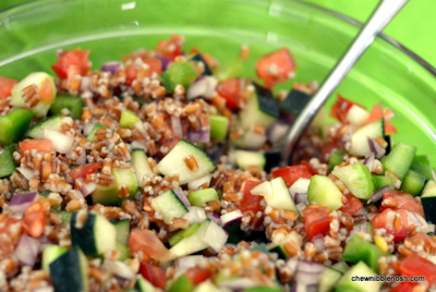 Summer Veggie Wheat Berry Salad