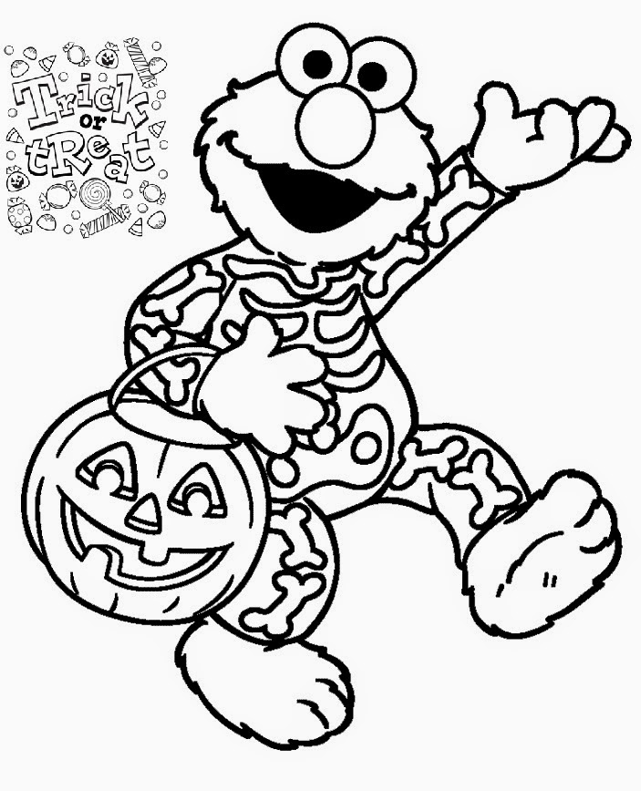 Printable Halloween Elmo Sesame Street Coloring Pages