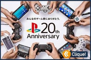 Clipe comemoração de 20 anos do Playstation