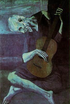 Velho guitarrista cego