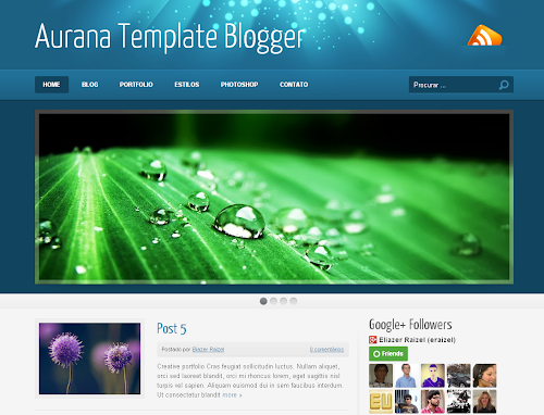 Template Blogspot para Portfolio