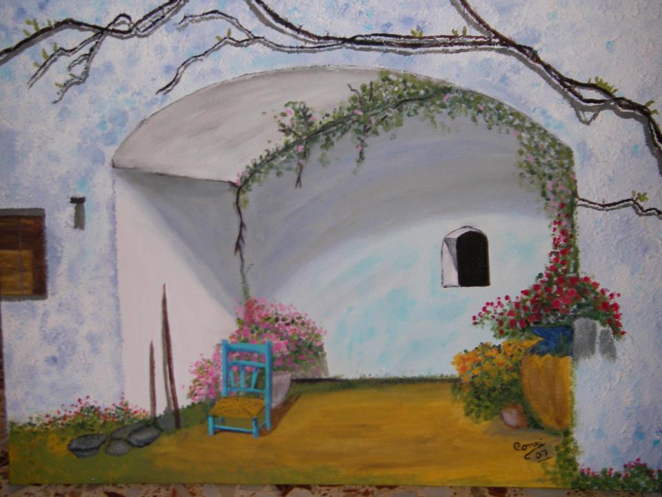 Culiblanco por francisco nieto cuadros pintados de maria for Casa andaluza