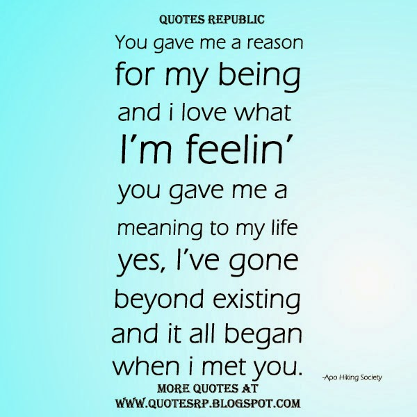 When I Met You Quotes  QuotesGram