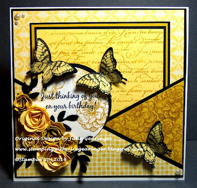 http://stampingwithjuliegearinger.blogspot.com/2014/08/monochromatic-yellow-birthday-color-and.html