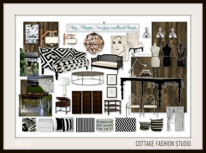 Focal point styling 7 days 7 bloggers 7 moodboards the for Interior design challenge art deco