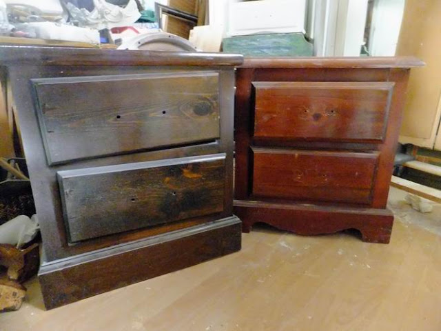 4 the love of wood pottery barn styled nightstands. Black Bedroom Furniture Sets. Home Design Ideas