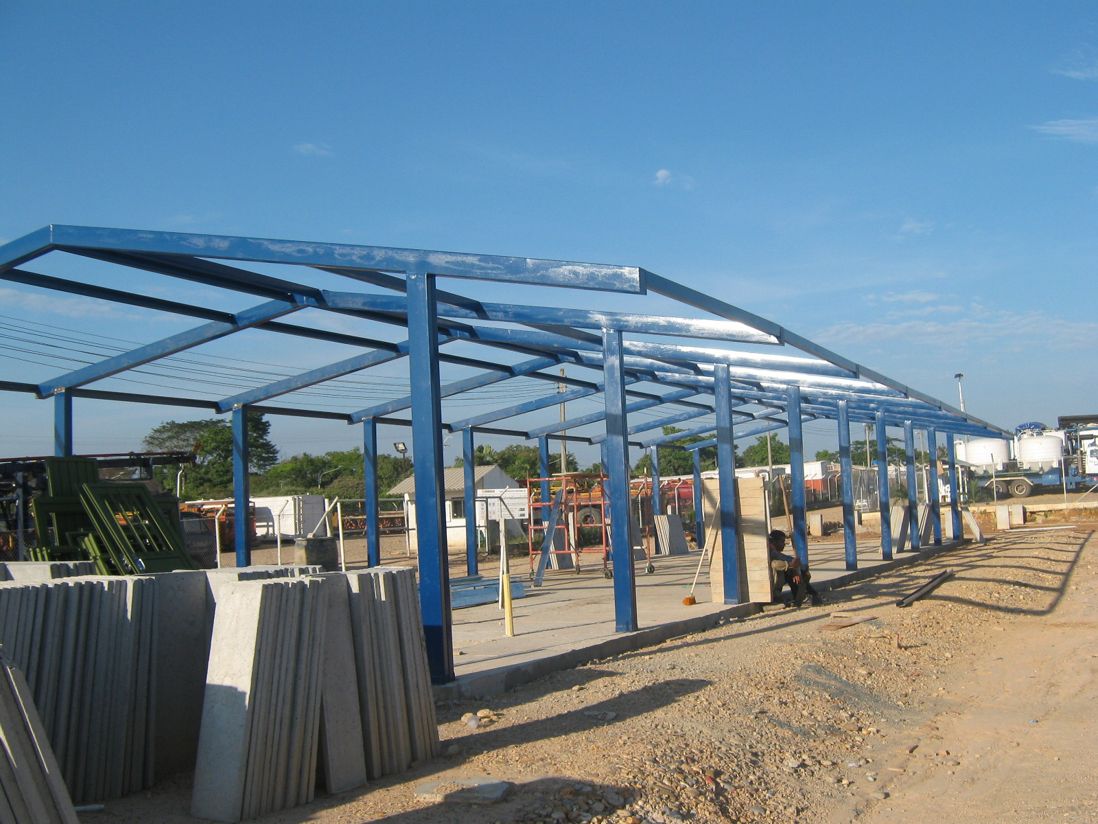 Casas prefabricadas casas prefabricadas instalacion for Como hacer una estructura metalica para techo