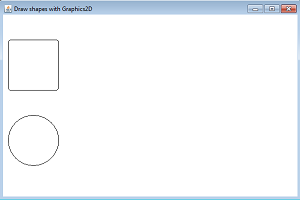 draw shapes graphics2d