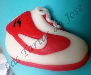 Tarta jugadora de basket. Las Tartas de Jose. Castellón.