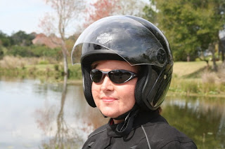 girls wear Half-shell Helmets for Women