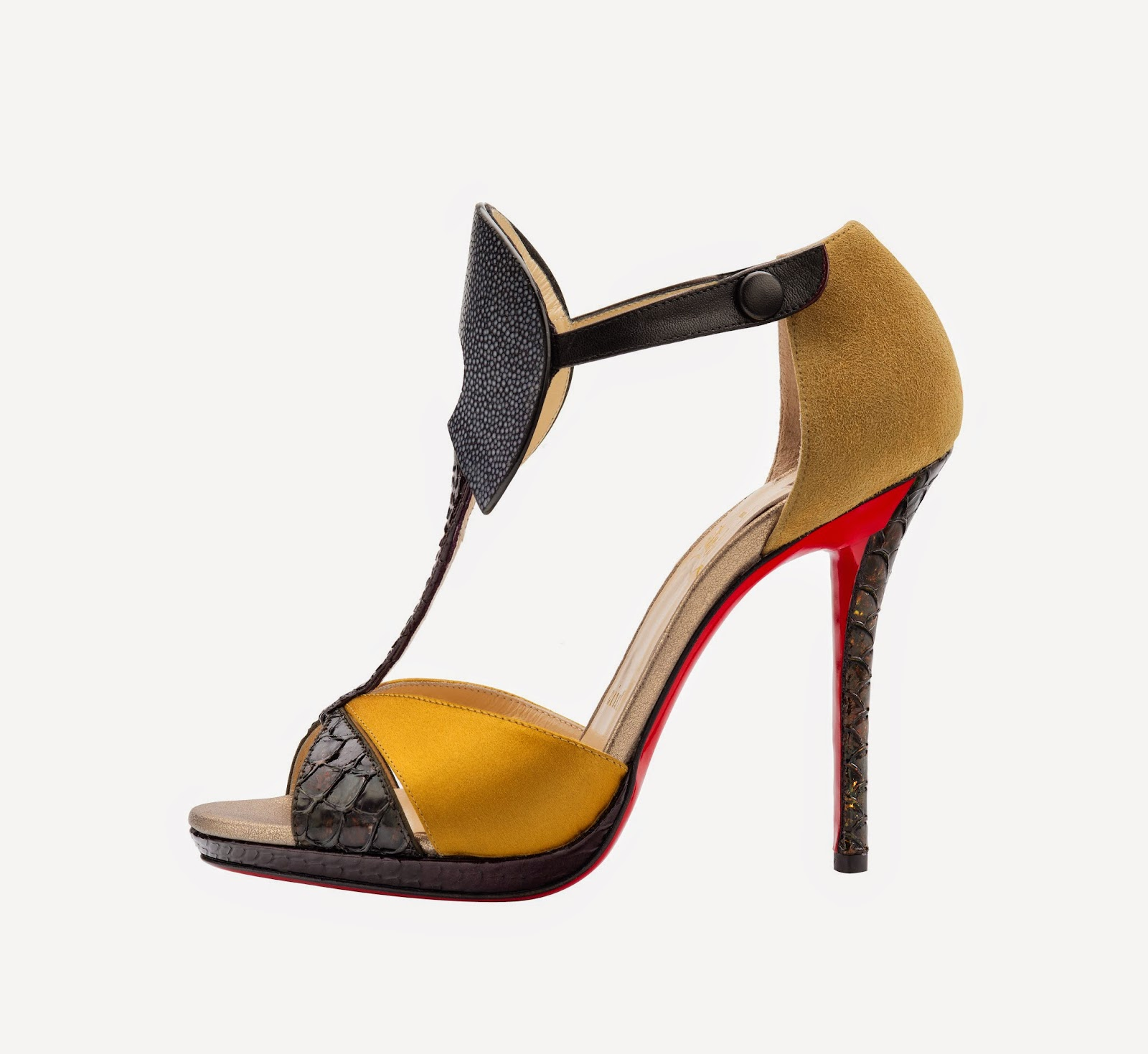 Christian Louboutin Aztec 120 Guache Satin Version Multi