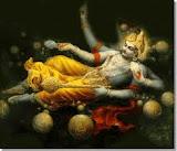 O cosmos gira ao redor do Senhor Vishnu