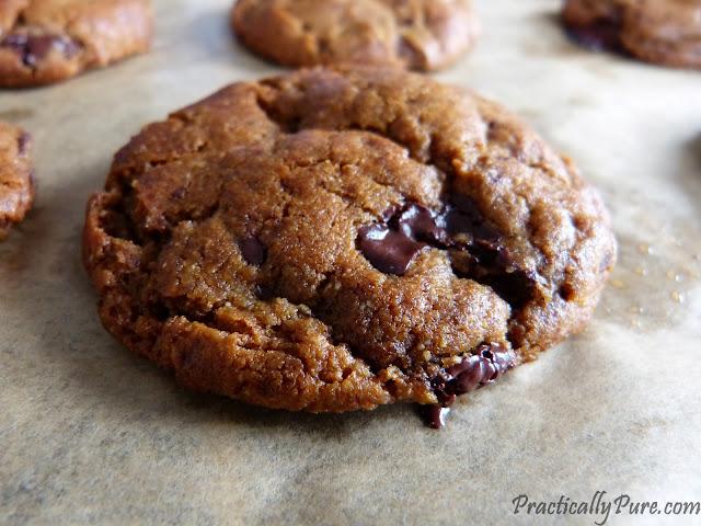 peanut butter chocolate chip cookies sugarfree glutenfree