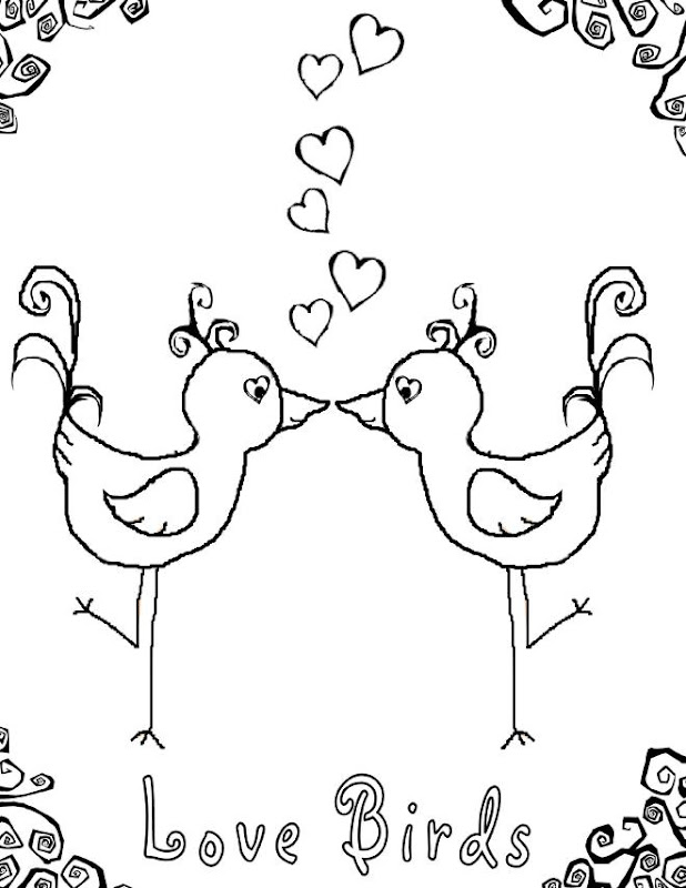 birds love coloring pages and sheets birds of paradise coloring page  title=