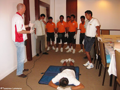 EFR course, Imperial Boathouse, Choengmon, Koh Samui, Thailand explanation