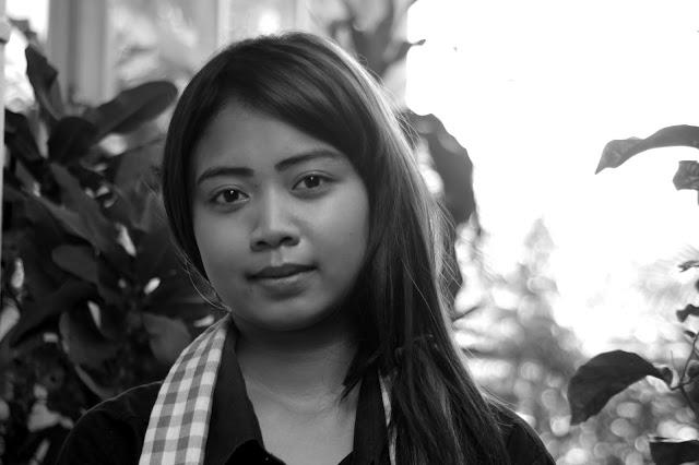 Série Noir et Blanc / visage / jeune fille de Phnom Penh