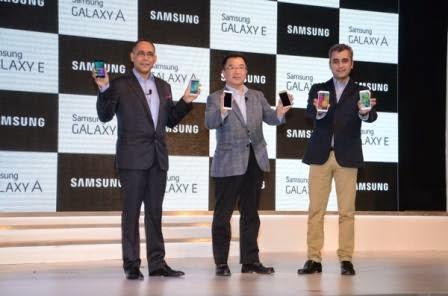 Samsung rilis Galaxy A3, A5, E5 dan E7 di negara India