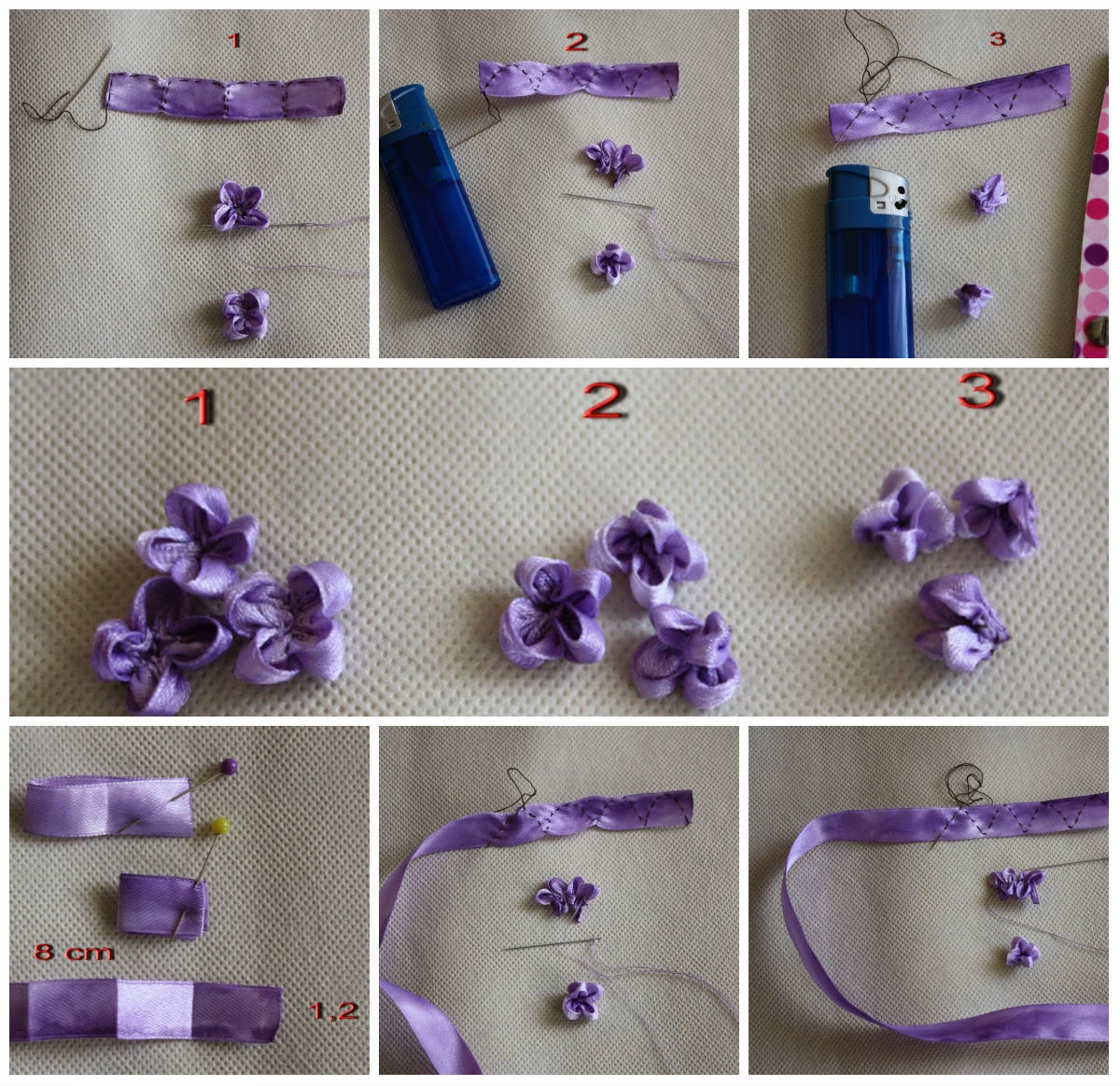 Ribbon embroidery some picture tutorials g