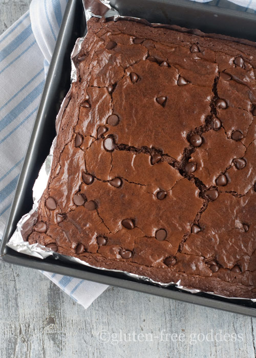 Gluten free dark chocolate brownies