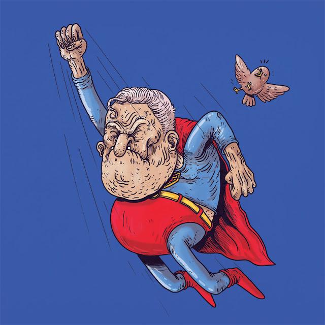 Green Pear Diaries, diseño gráfico, ilustración, Alex Solis, Famous Oldies, Superman