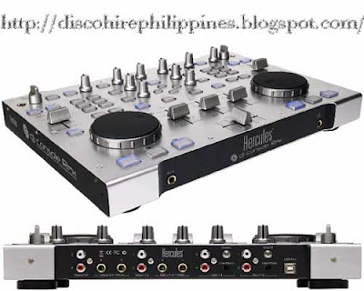 Rmx Hercules digital audio disco and club mixing DJ Console unit computer assisted audio processing