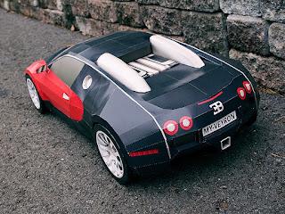 Car - Bugatti Veyron Papercraft-1