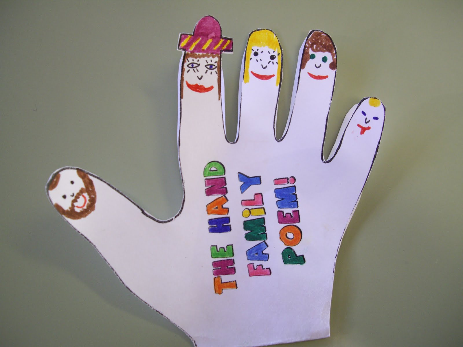 Learning together treasure box vii the hand family poem for Family arts and crafts